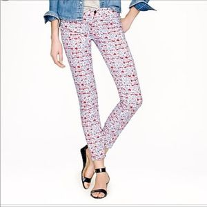 Liberty for J. Crew Toothpick ankle jeans sz 25